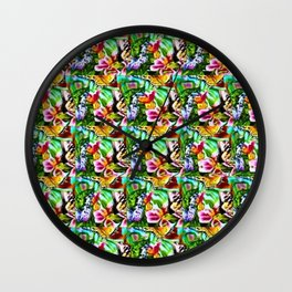Butterfly Inside and Out Stereogram Wall Clock