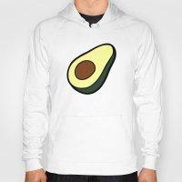 avocado Hoodies featuring Avocado Pattern by evannave