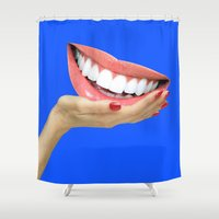 dentist Shower Curtains featuring Playing At Home by Tyler Spangler