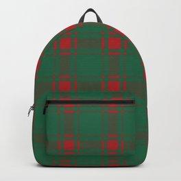 Minimalist Middleton Tartan in Red + Green Backpack