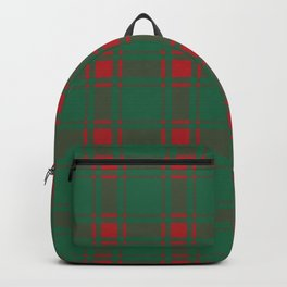 Minimalist Middleton Tartan in Red + Green Backpack