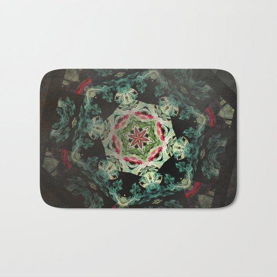 Dark forest mosaic kaleidoscope Bath Mat