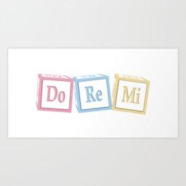 Do Re Mi Musical Baby Blocks Art Print
