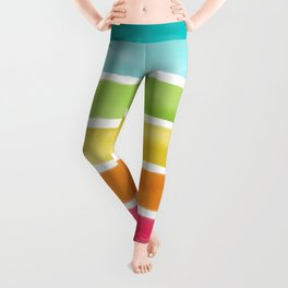 Watercolor Rainbow Stripes Leggings