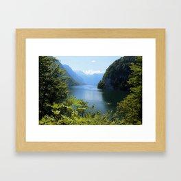 Germany, Malerblick, Koenigssee Lake II Framed Art Print