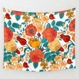 Vintage flower garden Wall Tapestry