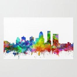louisville skyline watercolor Rug