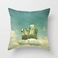 never stop exploring Throw Pillows featuring Never Stop Exploring by Monika Strigel