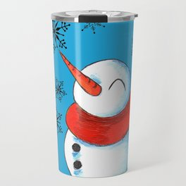 Snowmen and Snowflakes Travel Mug