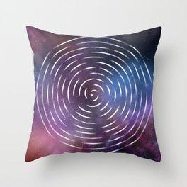 Galactic spin Throw Pillow