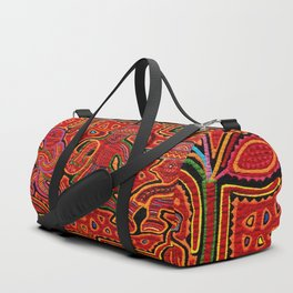 Kuna Indian Men in Canoes Duffle Bag