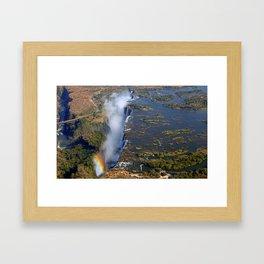 Flight over the Victoria Falls, Zambia Framed Art Print