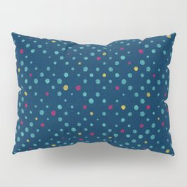 LOTS OF DOTS / prussian blue / turquoise green / deep red / yellow Pillow Sham