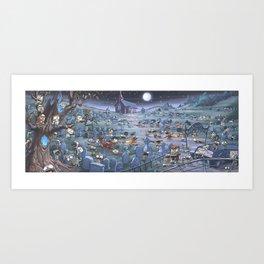Zombie Melee Art Print