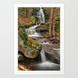 Ricketts Glen Waterfall Layers Art Print