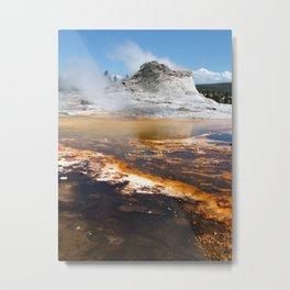 Yellowstone Geyser Metal Print