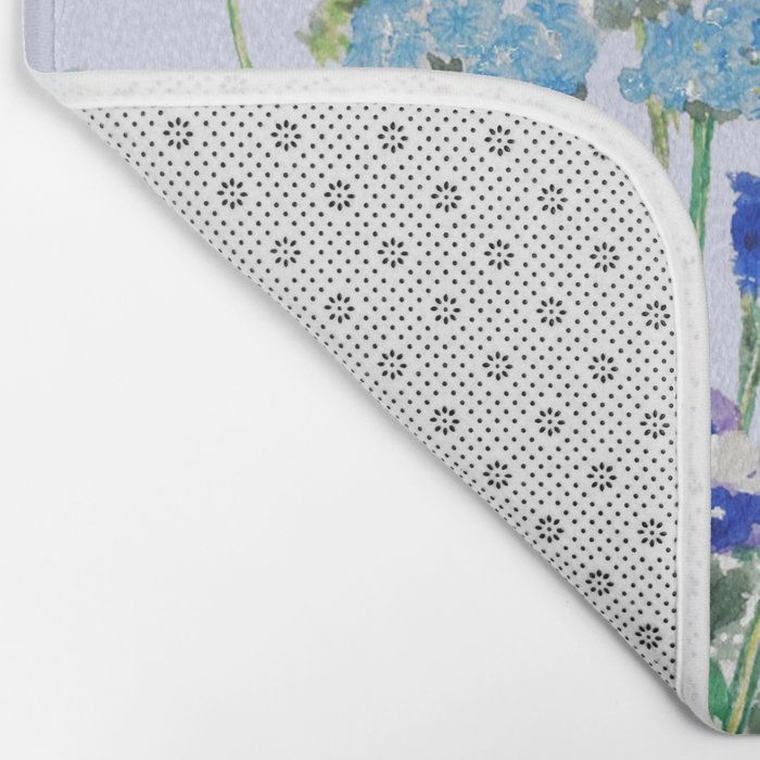 blue flower Bath Mat