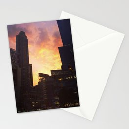 On fire Stationery Cards