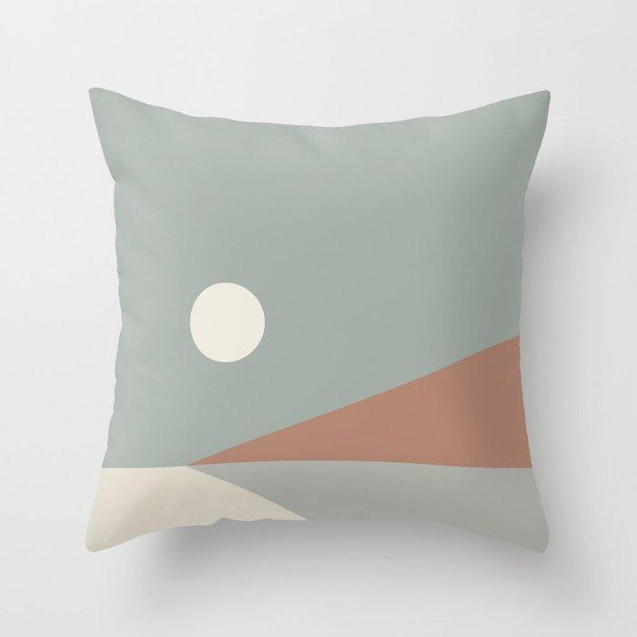 Geometric Landscape 03 Throw Pillow