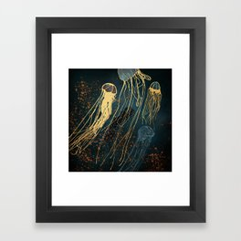 Metallic Jellyfish Framed Art Print