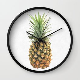 Watercolor pineapple Wall Clock