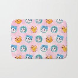 Umie & Mochi VIII - Pattern 3 - Pink Bath Mat