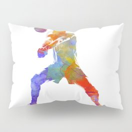 Volley ball player man 02 in watercolor Pillow Sham