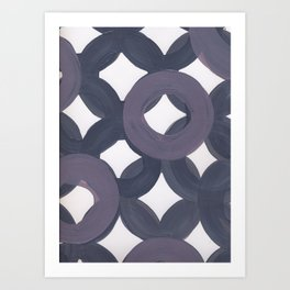 Purple Geo Circles Art Print