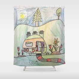 Camping in Style! Shower Curtain