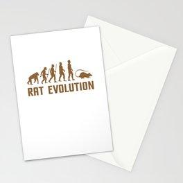 rat evolution rats a girl loves rat rats Stationery Cards