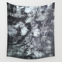 Abstract Splatter Black and Grey Painting Wall Tapestry
