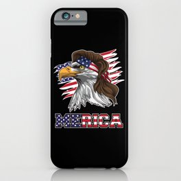 Patriotic Mullet Eagle | Independence Day July 4th iPhone Case