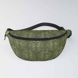 Olive Green Classic Acanthus Leaves Pattern Fanny Pack
