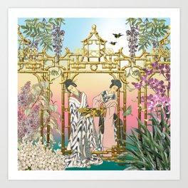 Geishas at the Gate Art Print
