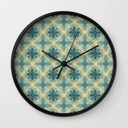 Green Gemstone Pattern No. 8 Wall Clock