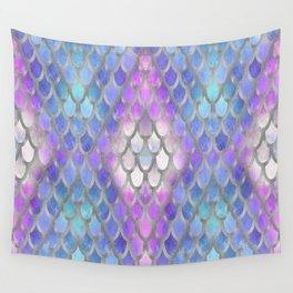 Pastel Diamond Mermaid Scales Wall Tapestry