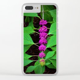 Purple Fruit Clusters Clear iPhone Case