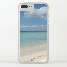Saona island Clear iPhone Case