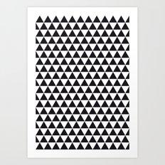 PATTERN#02 =Triangles/BLACK+WHITE= Art Print