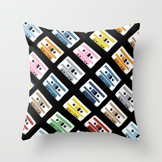 Rainbow Tapes 45 Throw Pillow