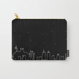 Barcelona skyline at night Carry-All Pouch