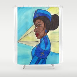 Follow me into the Blue- II Shower Curtain