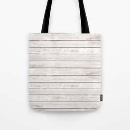 Rustic ivory white vintage wood Tote Bag