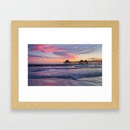 Huntington Beach Sunset  8/3/15  Framed Art Print