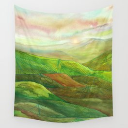 Lines in the mountains XVI Wall Tapestry