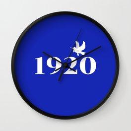 1920 Blue Dove Wall Clock