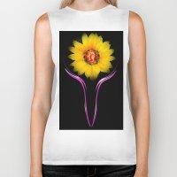 sunflower Biker Tanks featuring Sunflower by Walter Zettl