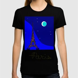 Paris at night in a Starry Sky T-shirt