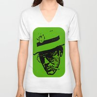 hunter s thompson V-neck T-shirts featuring Outlaws of Literature (Hunter S. Thompson) by Silvio Ledbetter