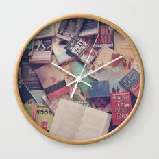 Book mania! (2) Wall Clock